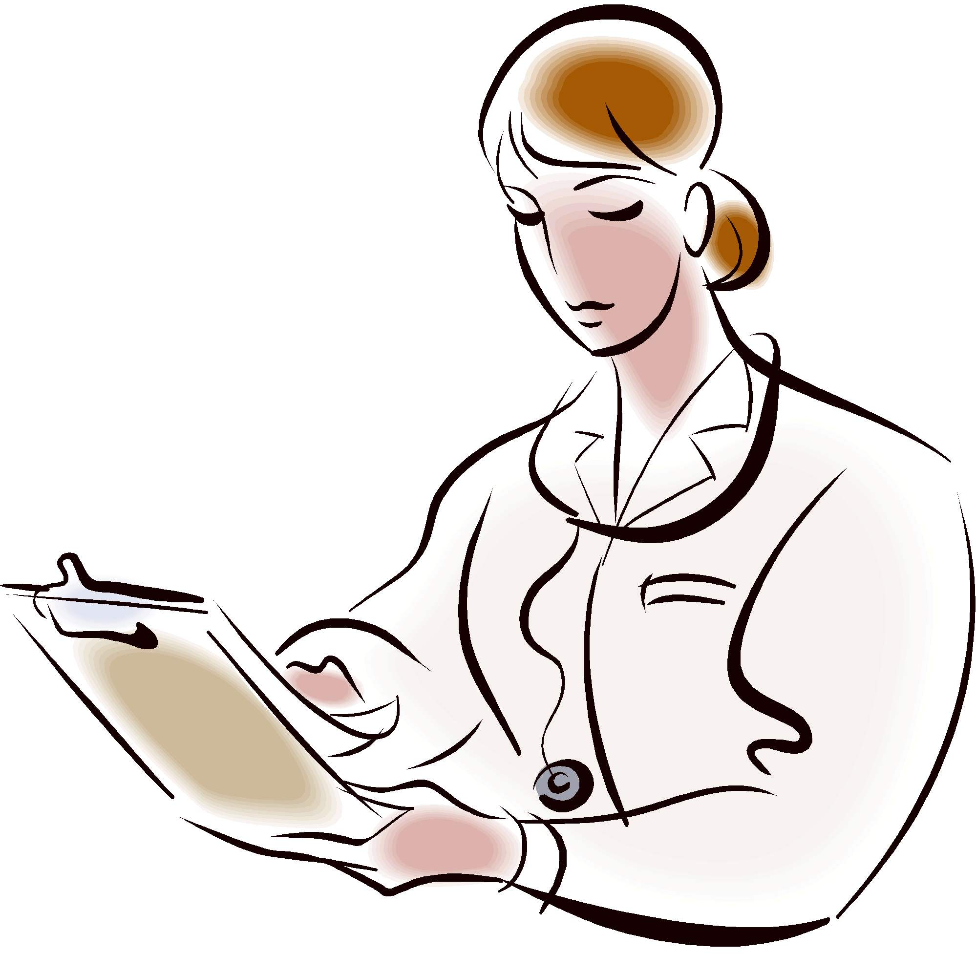 Woman Doctor Clip Art