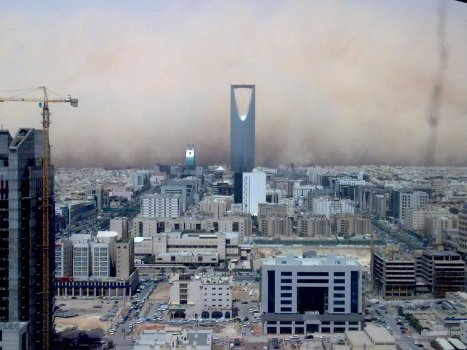 Saudi sandstorm in Riyadh