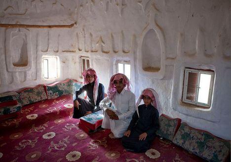 old Saudi najran house inside